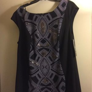 Sangria NEW Black and Gray Dress sz 20w